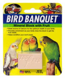 Zoo Med, Bird Banquet Block Fruit Formula klein